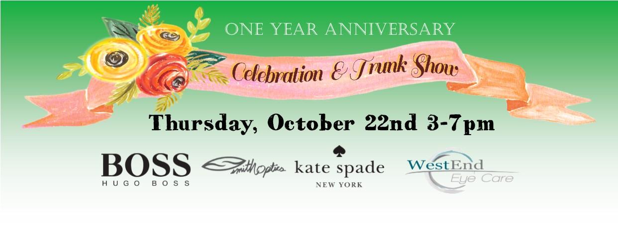 One Year Anniversary Sale Optometrist Paducah Kentucky
