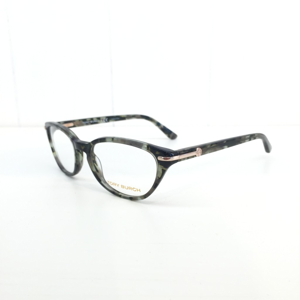 Tory Burch has taken a fresh approach to the tortoise look with these blue and green flecked frames. These are so unique!